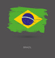 brazil colorful brush strokes painted national vector image vector image