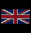 british flag pattern of stop hand icons vector image vector image