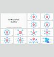 bundle of minimalist infographic design layouts vector image vector image