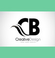 cb c b creative brush black letters design with vector image