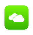 clouds icon digital green vector image