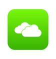 clouds icon digital green vector image vector image
