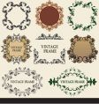 collection vintage frames vector image
