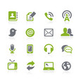 communications icons natura series vector image