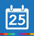 date calendar icon sign design style vector image vector image