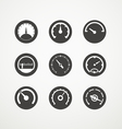 different slyles speedometers collection vector image vector image