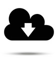 downloading data symbol from the cloud isolated vector image vector image