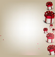 elegant background with gift boxes vector image