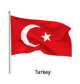 flag republic turkey vector image