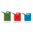 gasoline fuel canister icon petrol can vector image vector image