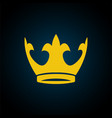gold yellow crown icon symbol king vector image vector image