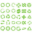 green round recycle vector image vector image