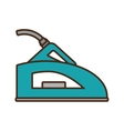 green steam iron household vector image