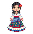 gypsy girl historic clothes vector image vector image