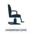 hairdresser chair icon flat style icon design ui vector image vector image