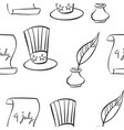 hand draw memorial day collection doodles vector image