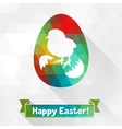 happy easter greeting card background vector image vector image