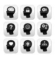 Head brain buttons set vector | Price: 1 Credit (USD $1)