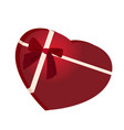 heart shaped chocolate box vector image