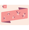 Human winged figures in pink vector image