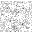 Ice cream seamless patternHand drawn vector image vector image