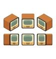 Isometric retro TV sets vector image
