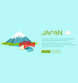 japan conceptual flat style web banner vector image vector image