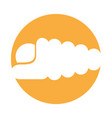 marine snail isolated icon vector image vector image