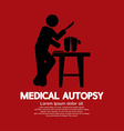 Medical Autopsy Graphic vector image vector image