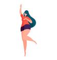 modern happy woman faceless cartoon character vector image