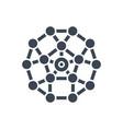network glyph icon vector image vector image