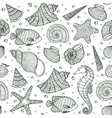 ocean inhabitants on white background vector image