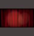 old cinema red curtain blank screen editable vector image vector image