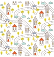 Outline countryside seamless pattern vector image vector image
