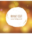 Paint splash frame for text on abstract bokeh vector image vector image