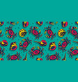 pattern wallpaper with seashell and crab ocean vector image vector image