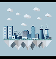 Pollution city concept in flat style design vector image vector image