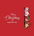 postcard santa claus and christmas character vector image vector image