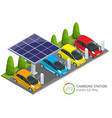 power supply for electric car charging electric vector image vector image