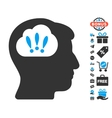 Problem Brainstorm Icon With Free Bonus vector image vector image