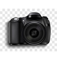 realistic photo camera professional photo studio vector image