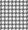 Repeating black white wave grid pattern vector image vector image