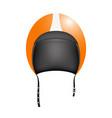 retro motorcycle helmet vector image vector image