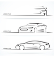 set luxury car silhouettes vector image vector image