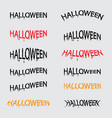 set of halloween calligraphy abstract vector image vector image