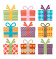 Set of icons of gift boxes