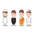 set of religion people different characters vector image