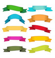 set of ten multicolor ribbons and banners vector image