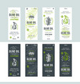 set templates label for olive oil vector image