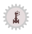 Silhouette of the valve gear vector image